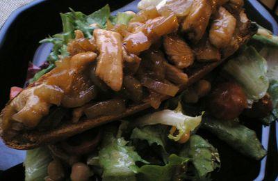 Crostinis marmelade d'oignons/poulet