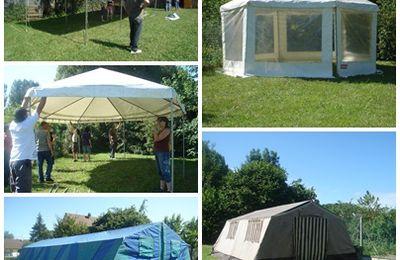 montage des tentes...