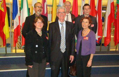 """Jean-marie Beaupuy, visite au parlement européen, et """"déjeuner débat"""" à Gargilesse"""