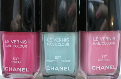 Chanel été 2010 les Pop-up: Vernis Riviera, Nouvelle vague et Mistral