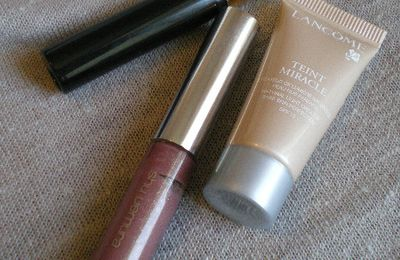 Tests échantillons: Teint miracle, Mascara Singulier, Gloss unlimited