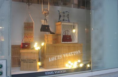 Les vitrines Vuitton à New York