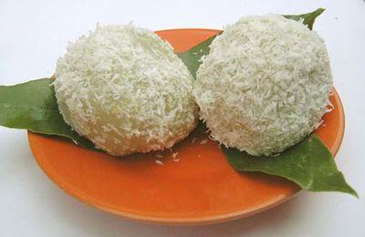 Perles de coco au caramel et pandanus