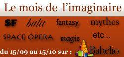 Le mois des littératures de l'imaginaire avec Babelio