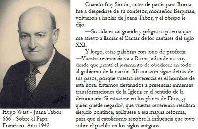 Hugo Wast profetizò al Papa Argentino