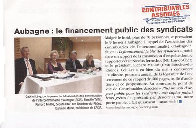 Article paru sur le Cri du Contribuable