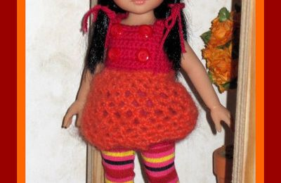 "Tenue ""Cerises Oranges""Paola Reina, Corolle,Little Darling"