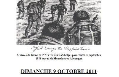 2011-Association RECCE-Para-Commando-le 9 octobre-Sur les traces du Lieutenant Van der Heyden.