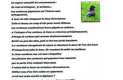 La buse et les corbeaux par Albin Lanaro
