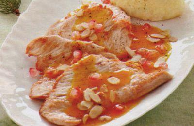 escalope de veau tomate et amandes