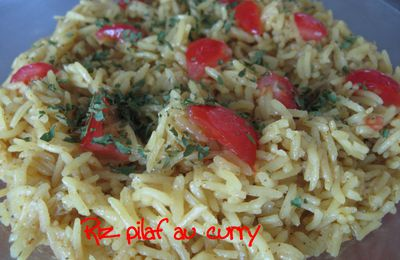 Riz pilaf au curry