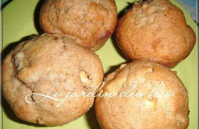 Muffins moelleux pommes-cannelle