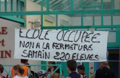 Occupation des écoles Samain