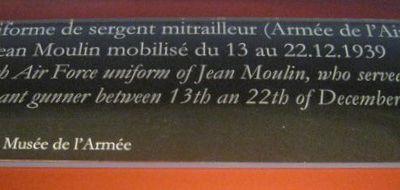 Uniforme de sergent mitrailleur de l'Armée de l'air de Jean Moulin, 1939