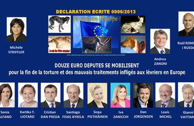 Written declaration 0006/2013 to put an immediate stop to the torture and mistreatment of greyhounds in Europe - 2014, silent voices shall vote