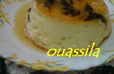 Crème caramel aux prumeaux