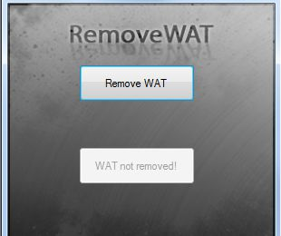 Remove WAT - Activador Windows 7