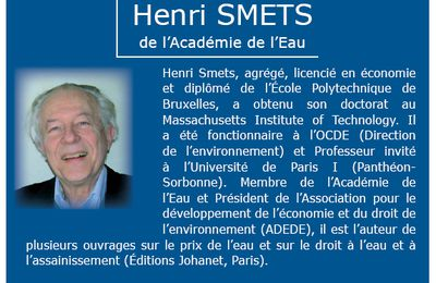 Henri Smets - La tarification progressive de l'eau potable