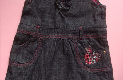 robe en jeans + collant DPAM taille 12 mois