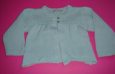 gilet turquoise taille 2 ans
