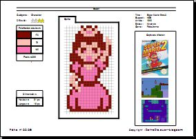 RetroFiche n° 0008 - Peach (Super Mario Bros 2)