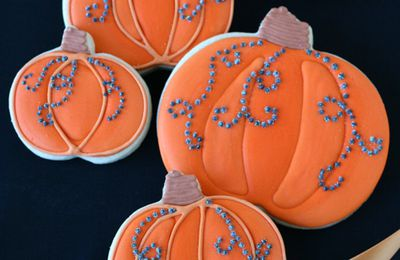 CUISINE-Cookies citrouille-TRADITION-Halloween