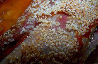 Filet mignon de porc soubressade & Sésame