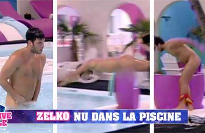 Zelko nu dans la piscine !