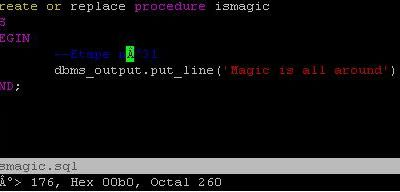 SQLDeveloper : casting invisibility spell on my code