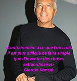 Citation du jour : Giorgio Armani