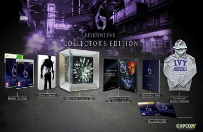 Resident evil 6 et Resident evil anthology en coffrets collectors ps3