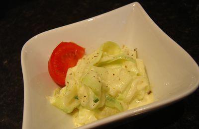 Salade de courgettes au curry