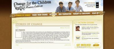 My story published on Change For The Children!
