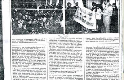 1981: classe franco-américaine partie 2 journal Neuilly sur Seine