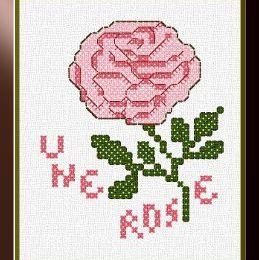 Ma grille gratuite : une petite rose !