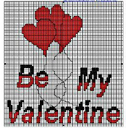 Be My Valentine!Broderie main et machine.