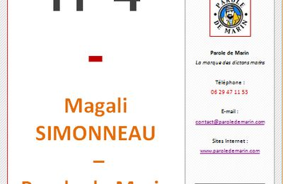 IT4 - Magali SIMONNEAU - Parole de Marin