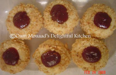 Thumbprint Cookies بسكوت الإصبع