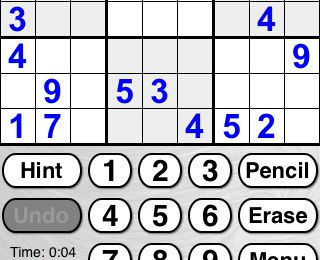 Sudoku sur Iphone - ;)Sudoku