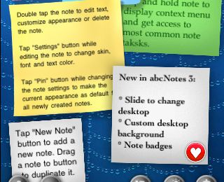 Des post it sur iPhone - Abc Notes