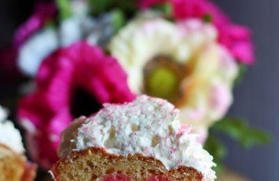 * Cupcakes vanille-framboise *