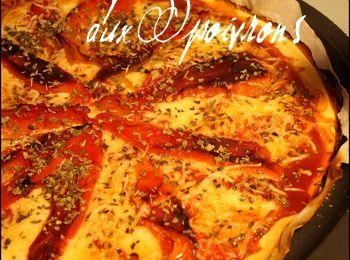 Pizza aux poivrons grillés ...
