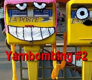 Street art - art de rue : N°2 - yarnbombing, knitted graffiti, knit art...