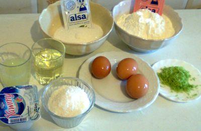 cake leger au citron et à la noix de coco