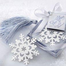 Cadeau invité noel : le marque page flocon de neige