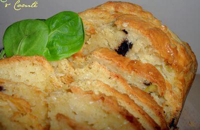 Cake aux 2 olives & Comté