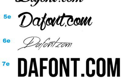 Dafont.com | Bannière, calligraphie, tatouage...
