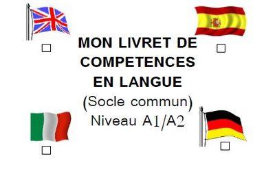 Livret de validation des compétences en langues A1 A2