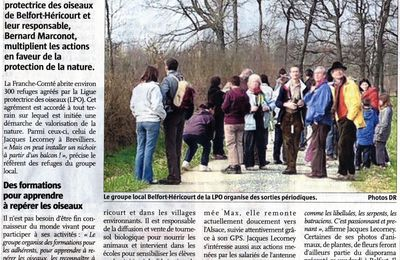 Le groupe local Belfort-Héricourt de la LPO en actions.