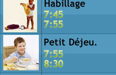 Application mobile horloge pour enfant